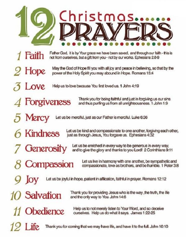 Christmas Prayer.12 Christmas Prayers Imani Mcc Of Durham