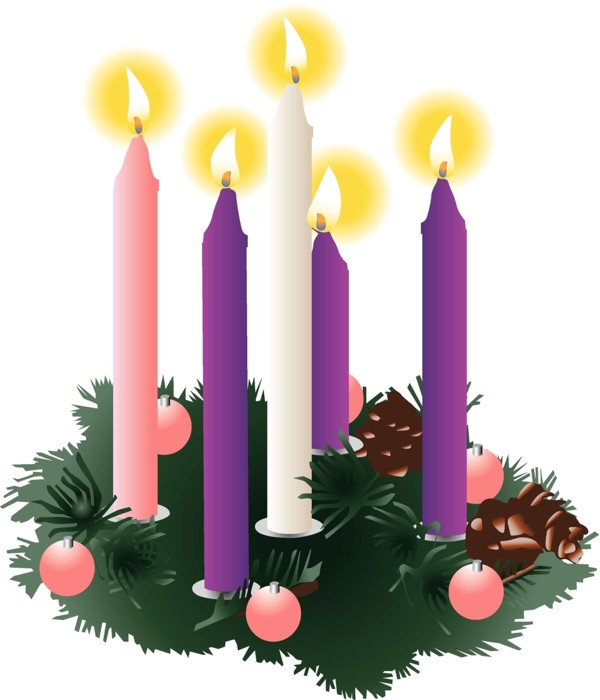 Advent Wreath on Christmas Eve