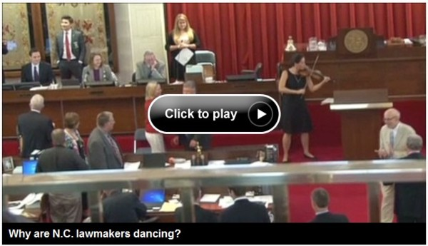 NC Lawmakers Dancing frame from CNN iReport