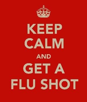 keep calm and get a flu shot