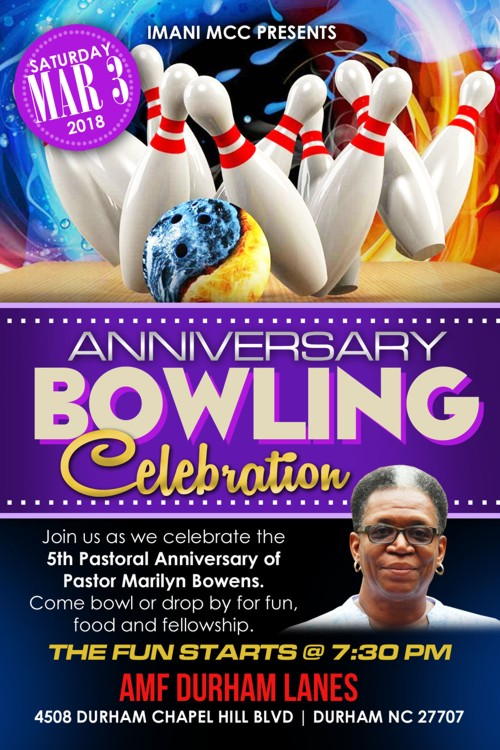 Pastor Anniversary Bowling March 2018