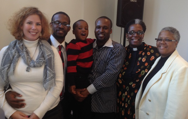 Pastor Marilyn's Family at Installation Service